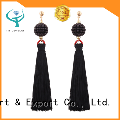 TTT Jewelry fantasy aqua tassel earrings solution expert for distribution