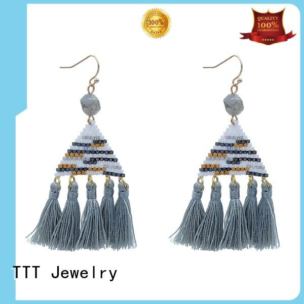 TTT Jewelry Brand pendant handmade stone custom blue stone earrings