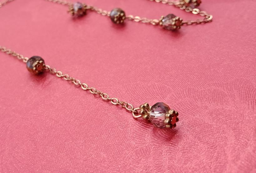 Gold Plated Crystal Beads Necklace
