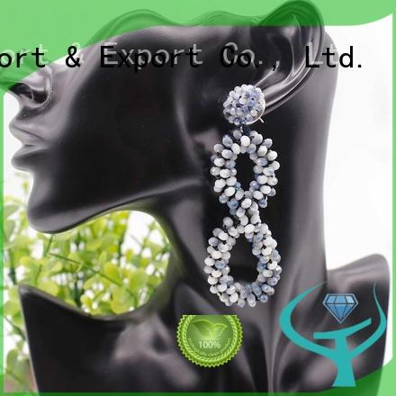 boutique crystal crystal earrings earring handmade TTT Jewelry company