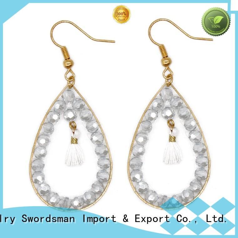 copper earring royal blue crystal earrings TTT Jewelry manufacture