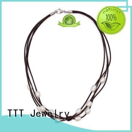 plain black choker necklace pearls freshwater chokers necklace Bulk Buy