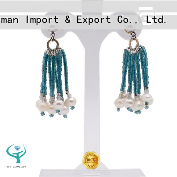TTT Jewelry design coin pearl earrings supplier for sale