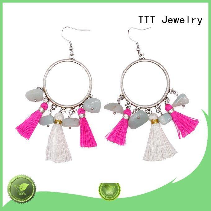 natural elegant TTT Jewelry red stone stud earrings