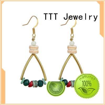 crystal handmade earring hook royal blue crystal earrings TTT Jewelry Brand