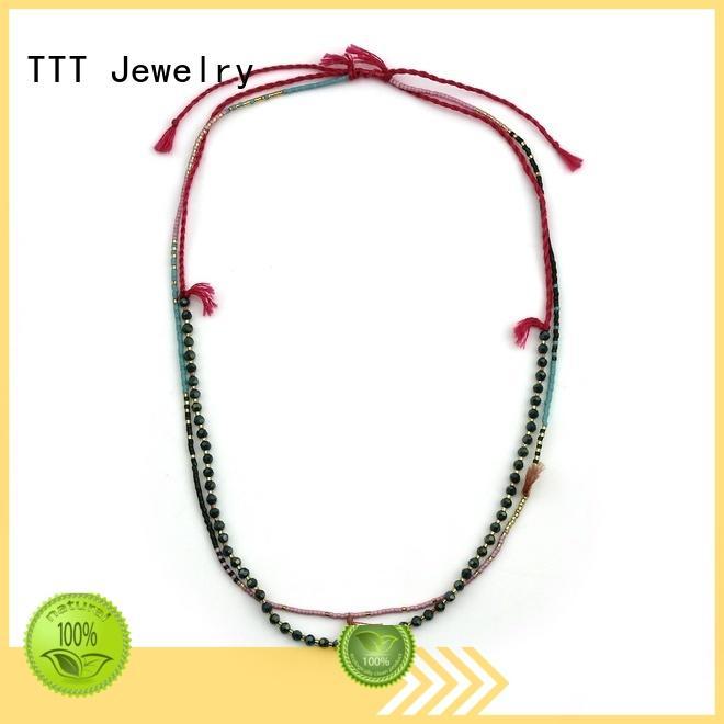 multi necklace handmade TTT Jewelry Brand miyuki necklace supplier