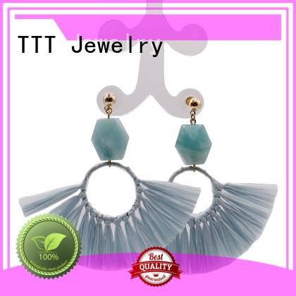 boho statement raffia TTT Jewelry Brand boho earrings supplier