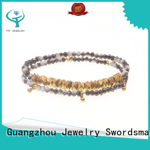eco-friendly crystal blue bracelet layers trader for sale