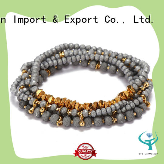 eco-friendly blue crystal bracelet beads awarded supplier for small business
