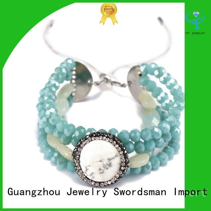 Handmade Crystal Beads Stone Charms Beacelet For Women