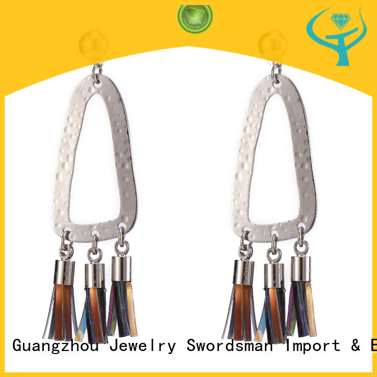 reliable fan tassel earrings gold awarded supplier for b2b