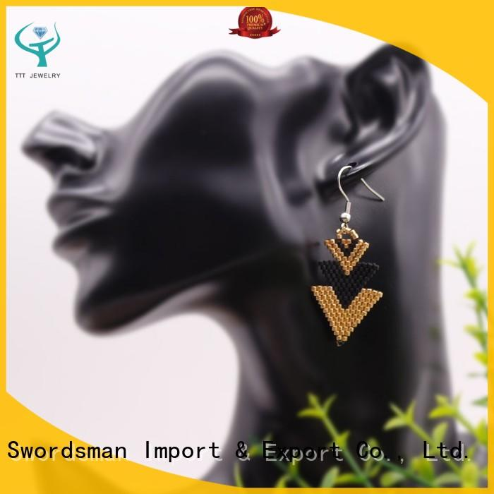 TTT Jewelry eco-friendly square glass earrings source now for various occasions