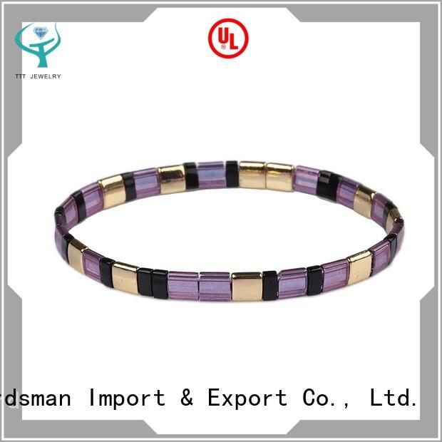 strict inspection tila bead bracelet customized trader for distribution