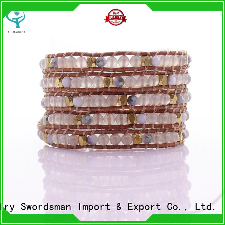 TTT Jewelry howlite white wrap bracelet trade partner for gift