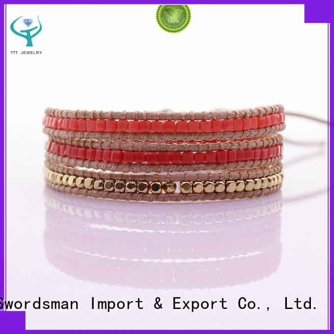 TTT Jewelry glass silver wrap bracelets exporter for sale