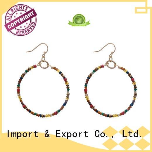 blue stone earrings handmade pendant stone TTT Jewelry Brand company