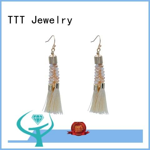 Quality TTT Jewelry Brand blue stone earrings necklace