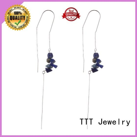 red stone stud earrings stones stone handmade TTT Jewelry Brand company