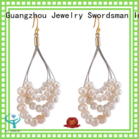 Handmade Pearl Beads Hoop Earrings