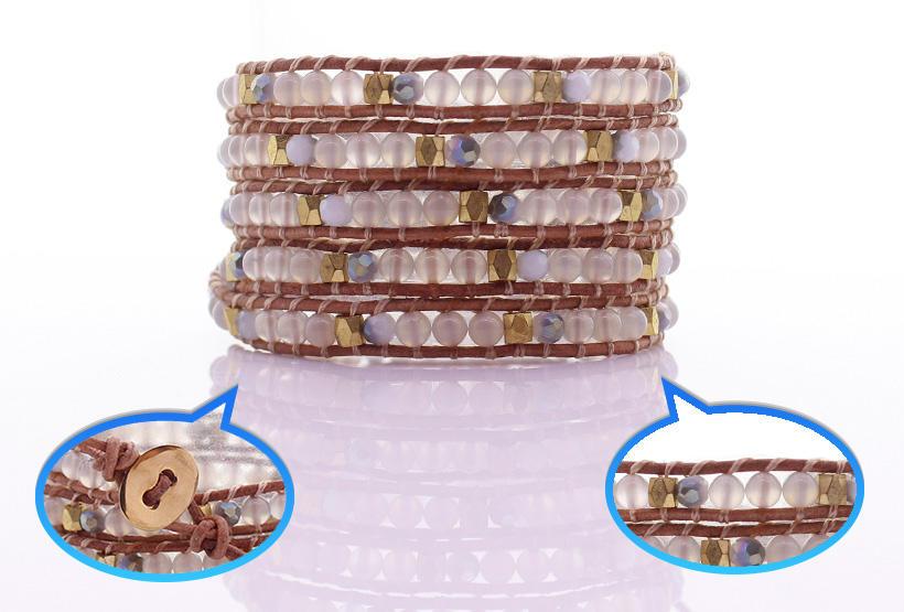 TTT Jewelry howlite white wrap bracelet trade partner for gift-1